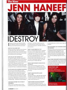 IDestroy Drummer Magazine Feature